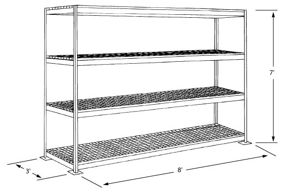 shelving for walk in freezer units storage techniques. Black Bedroom Furniture Sets. Home Design Ideas