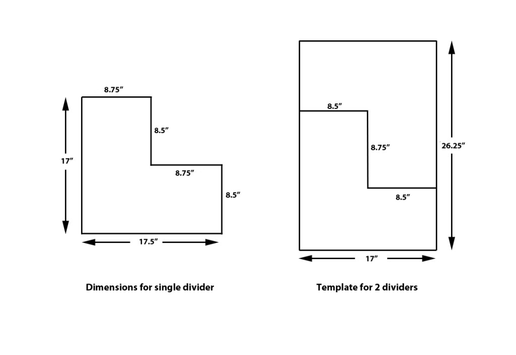 Fig. 8. Template for dividers.