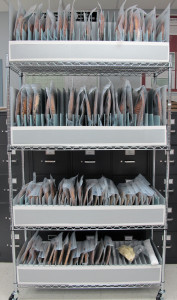 Fig. 5. Mobile wire shelving unit with four storage racks.