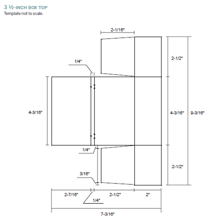 Fig. 36 3 ½-inch box top template