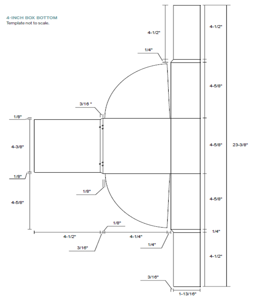 Fig. 33 4-inch box bottom template
