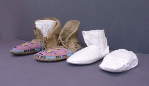 Moccasins with both tall and short inserts