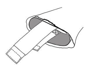 Figure 3. Ensure the ends of the tapes extend beyond the sleeves