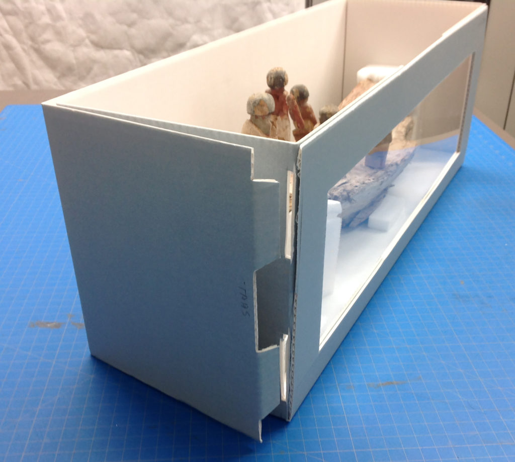 Figure 1. Finished example of tabbed drop-front box