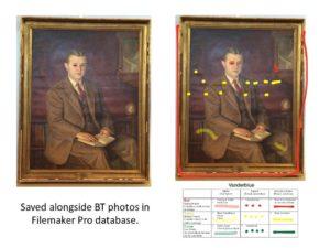 Annotated image is uploaded into documentation database alongside other treatment photography.