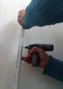 Figure 5.  A dremel™ drill is perfect for drilling holes.