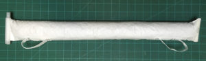 Figure 4. Completed desiccant tube filled with approximately 900 grams of activated silica gel.