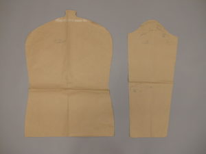 A torso and sleeve pattern was created for the padded hangers.